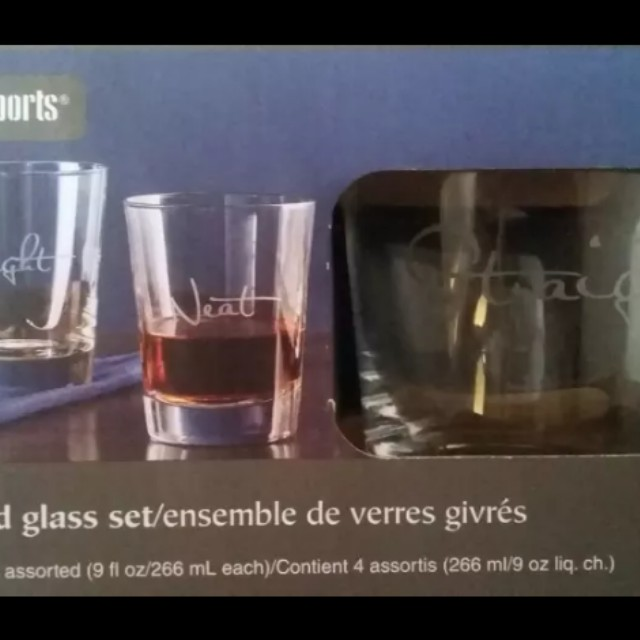 Frosted drink glasses ( new)
