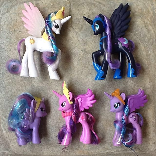 G4 My Little Pony Princess Ponies Lot Of 5, Toys & Games
