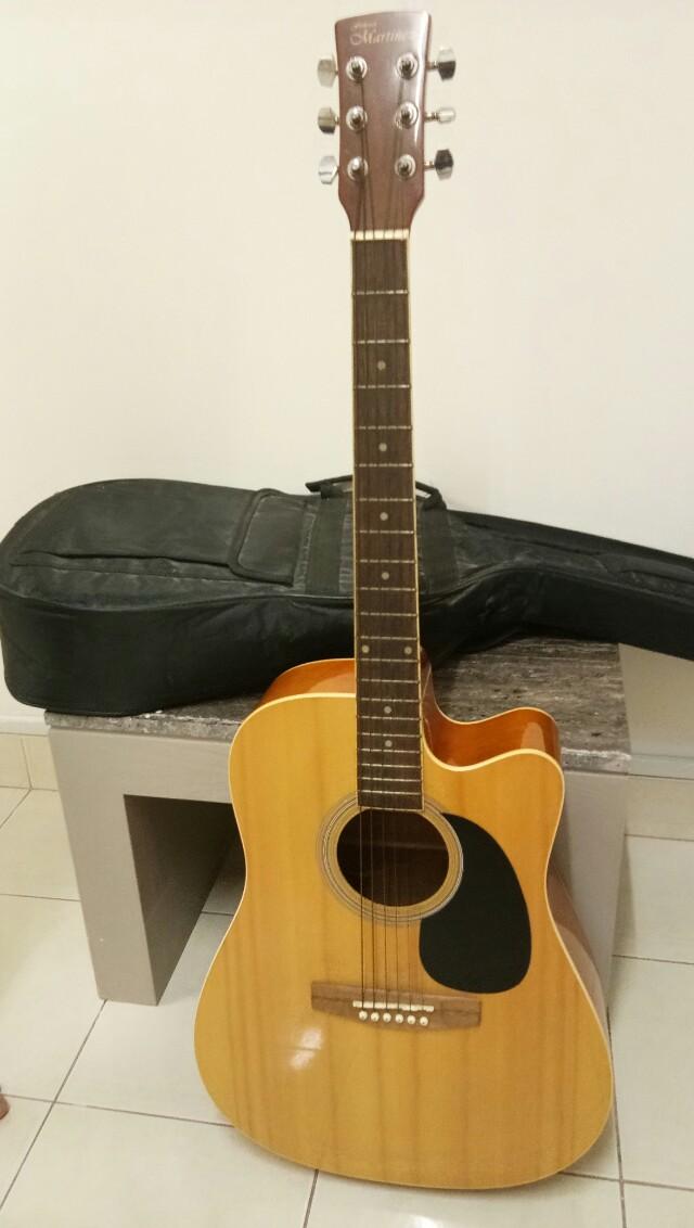 Gitar Akustik Martinez Bag Music Media Instruments On