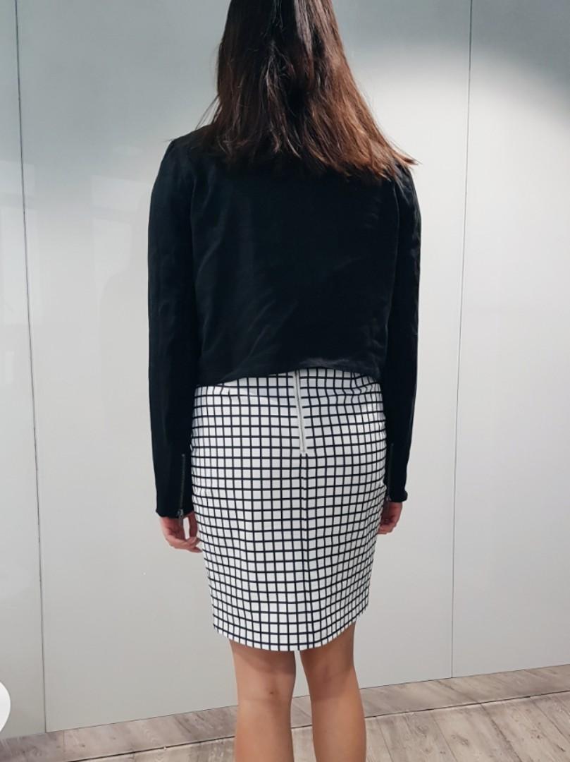 Glassons black zip detail jacket size 8