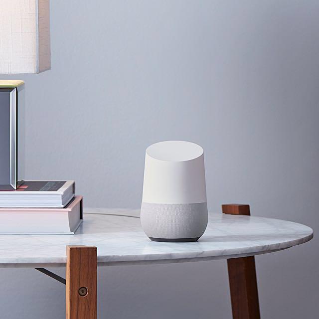 Google Home - 100% New - Smart Speaker ( YouTube Netflix Chromecast Spotify  Hue ) Not HomePod