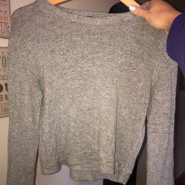 Grey Wool Brandy Melville Sweater