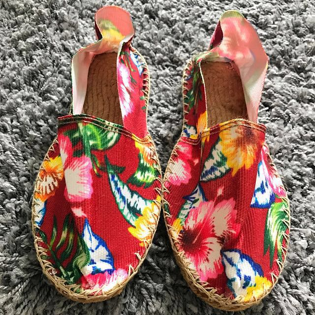 Hawaiian Print Espadrille Canvas Shoes