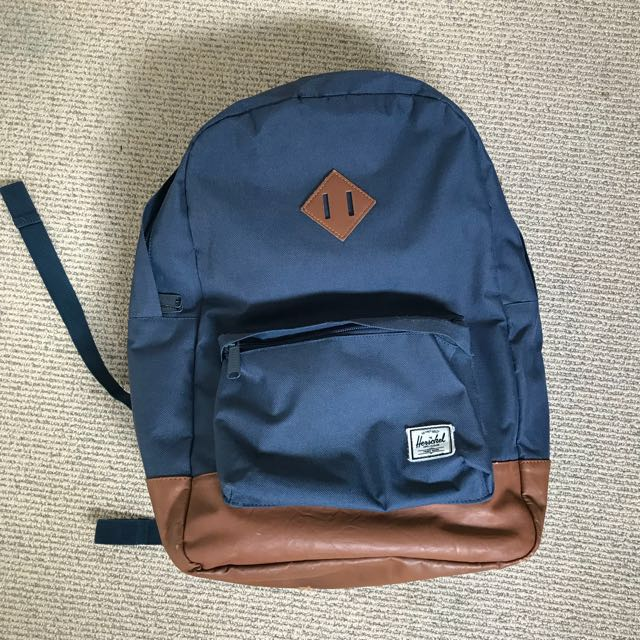 Herschel navy blue school bag