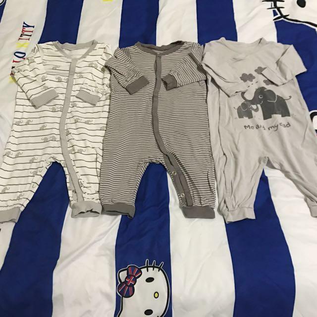 HM嬰兒連身衣(三件一組)