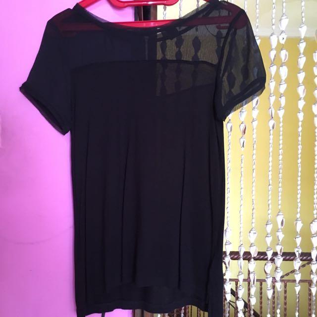 H&M Sheer Black Top