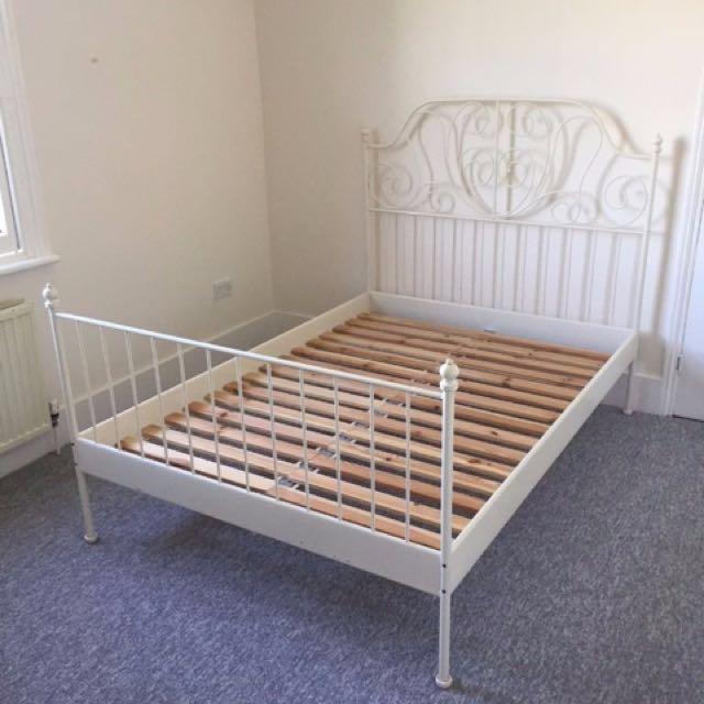 IKEA WHITE LIERVIK QUEEN BED FRAME