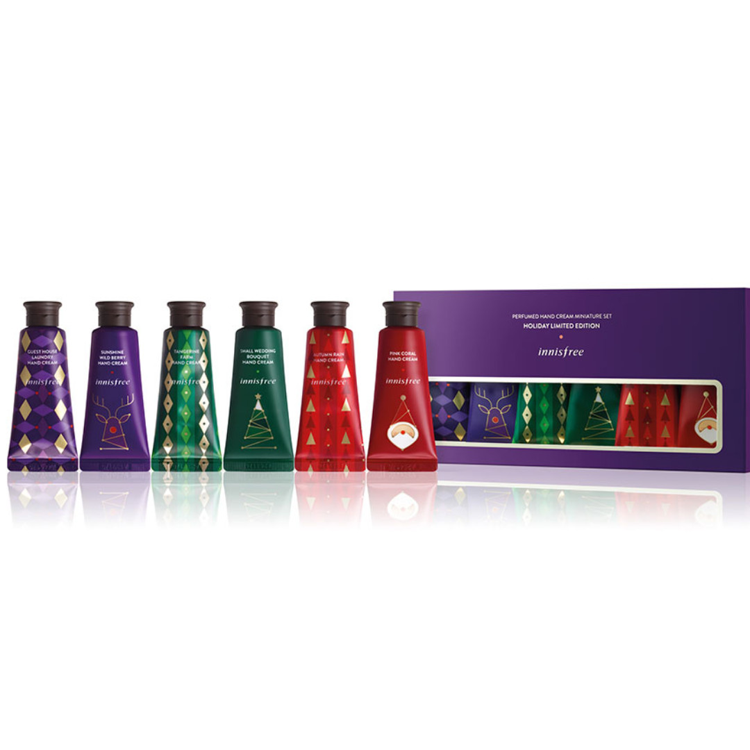 INNISFREE Perfumed Hand Cream Miniature Set (chrismast set)