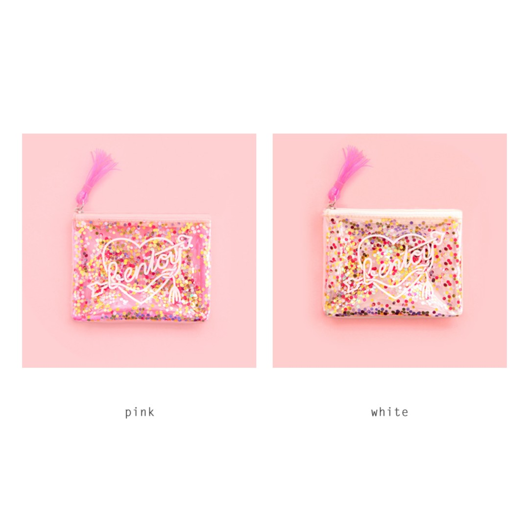 [Instock] Sequins Transparent Pouch By Bentoy
