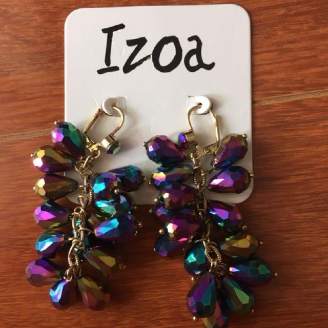 Izoa Opulence Rainbow Earrings