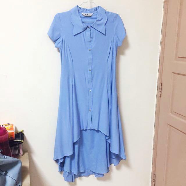 Long dress soft blue