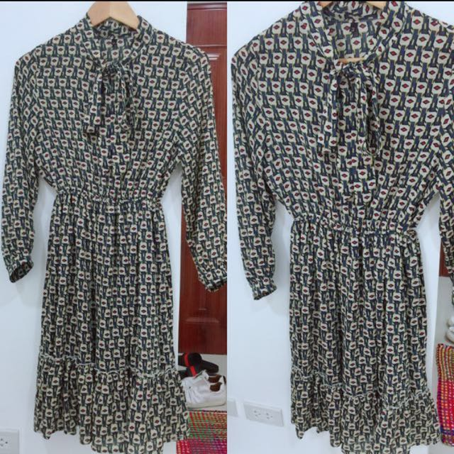 Mango inspired printed dress