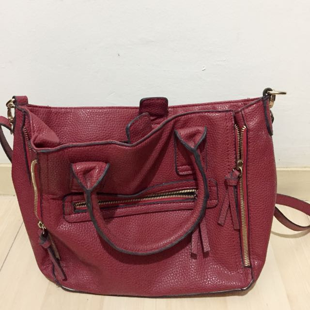 Mango Touch Shoulder Bag Red