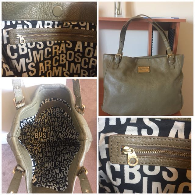 Marc By Marc Jacobs Classic Q Shop Girl Tote Leather Large Shoulder Bag
