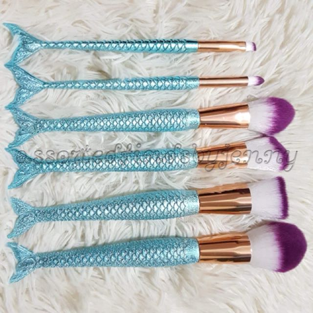 Mermaid tail brush ser