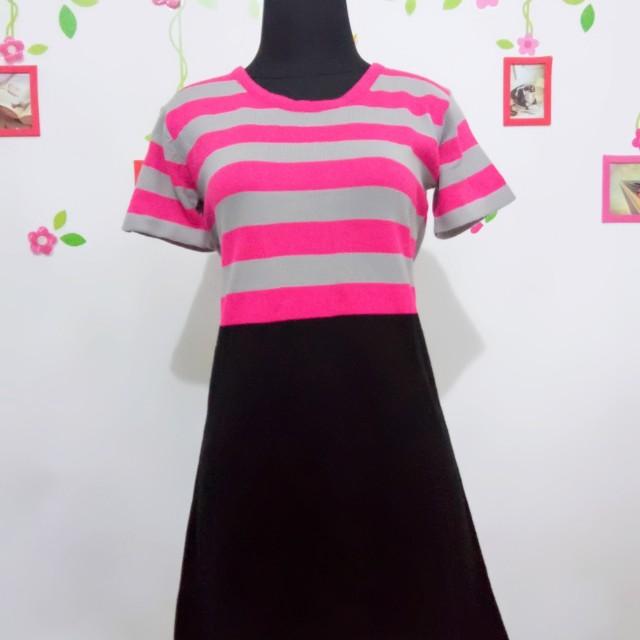 Mini Dress Grey Pink