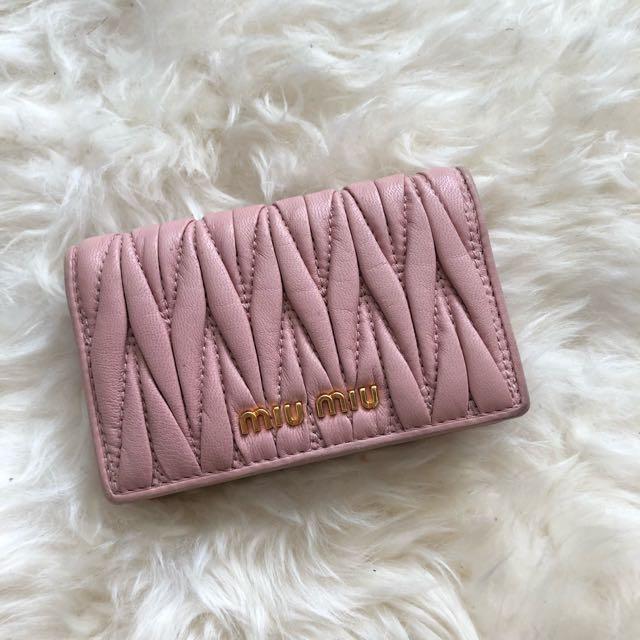 Miumiu Nude pink small wallet.