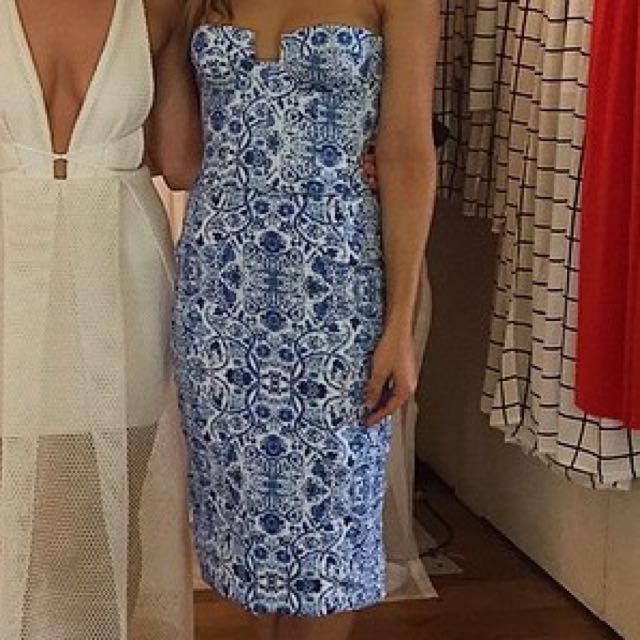 Natalie Rolt Strapless Dress