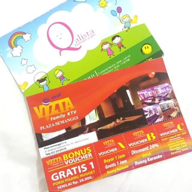 (NEW) 4 vouchers in 1 INUL VIZTA Family KTV Plaza Semanggi Lt. 6 (worth more than Rp 350.000)