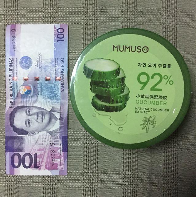 NEW Mumuso Cucumber Moisturizing Gel