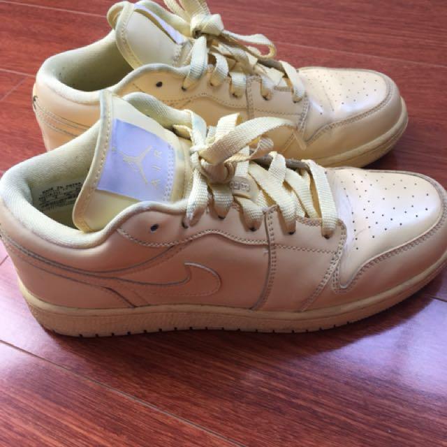 Nike Air Jordan pastel yellow