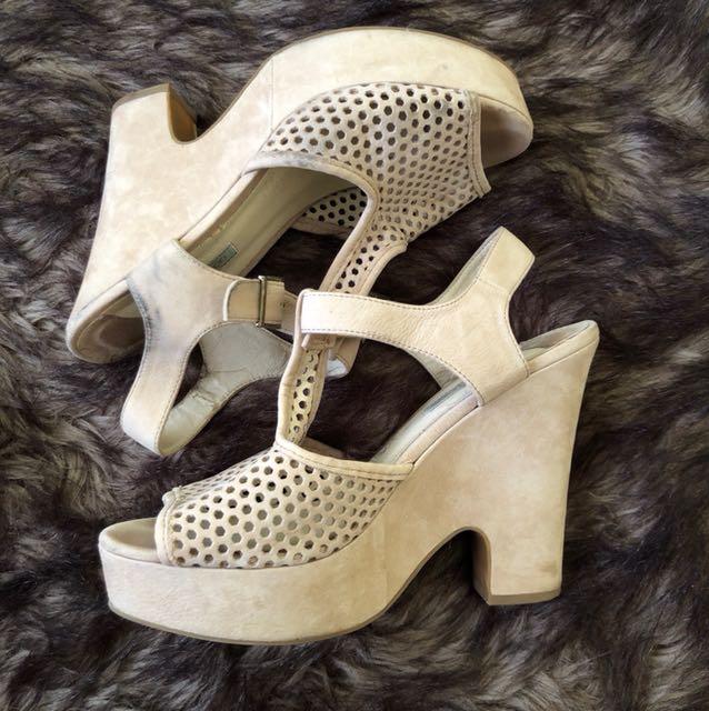 Nude small heels