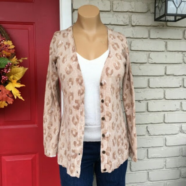 Old Navy Gold Cheetah cardigan