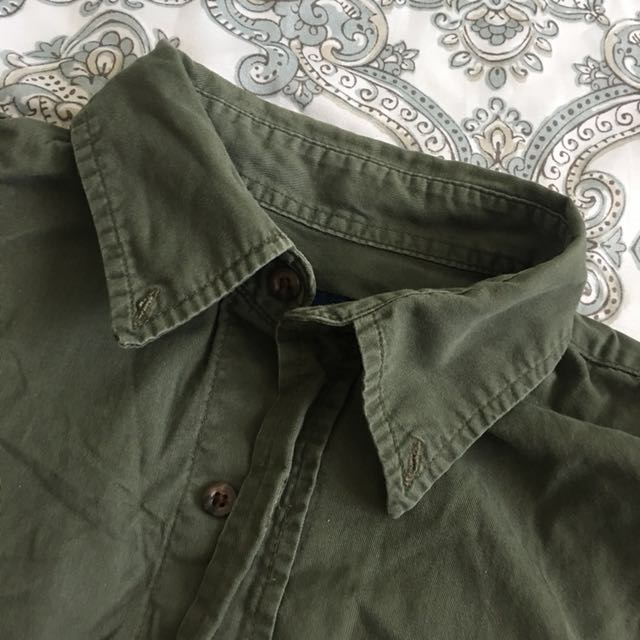 Olive button up