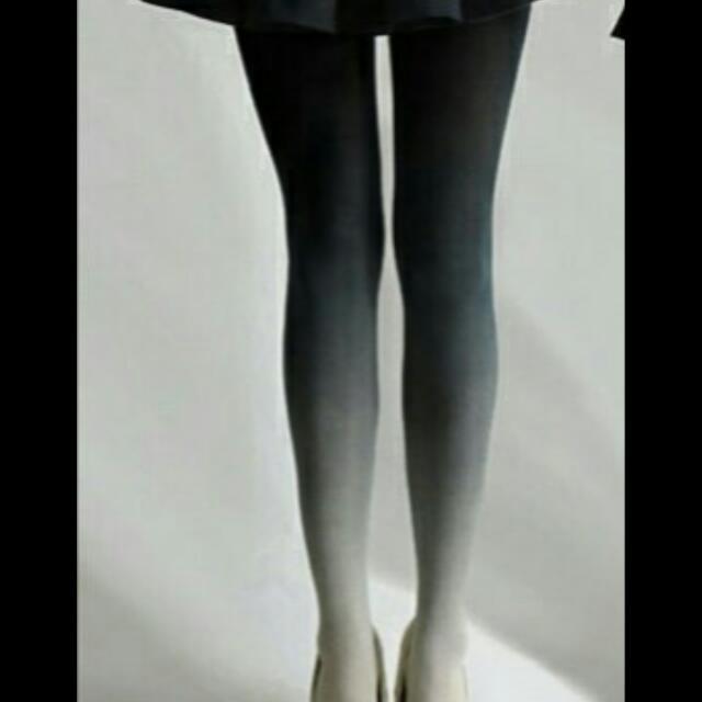 Ombre Tights Black Gray