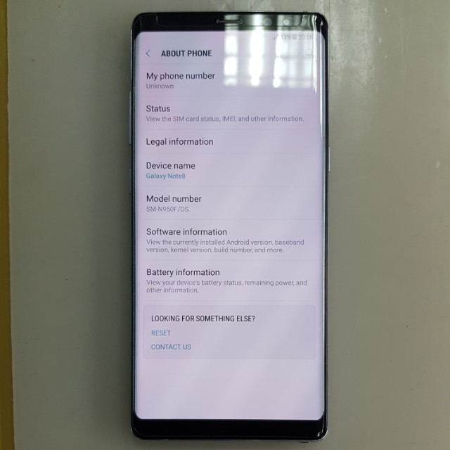 Only $870 Samsung Galaxy Note 8 64gb Orchid Grey, Mobile