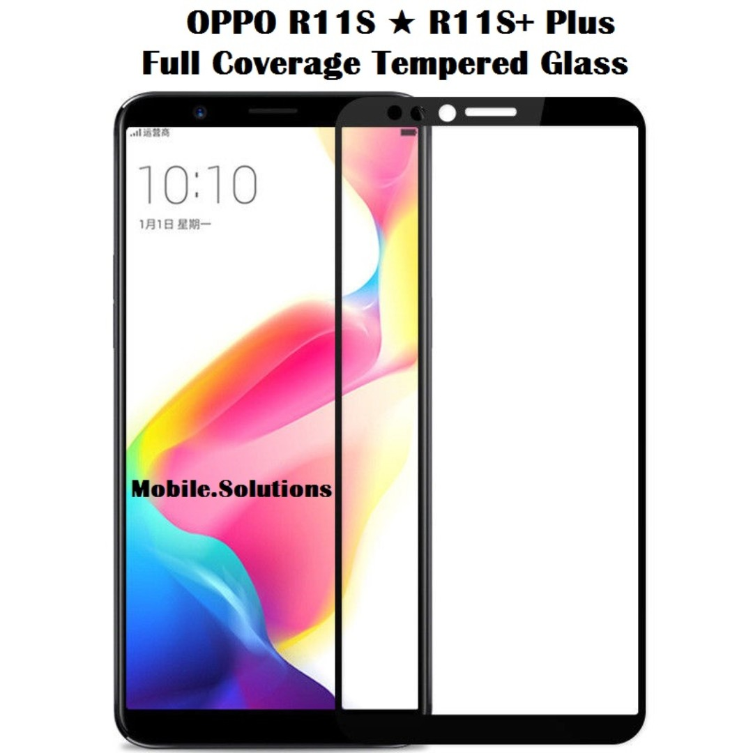 OPPO R11S ★ R11S+ Plus ★ Full Coverage Tempered Glass Screen