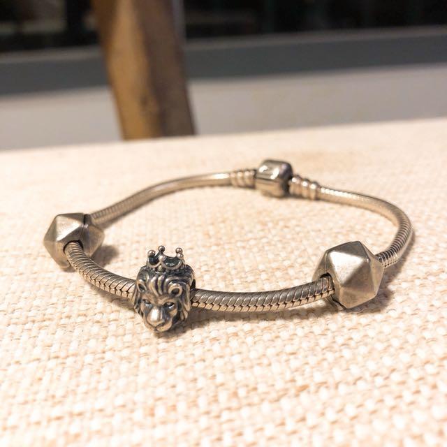 Pandora潘朵拉 經典925純銀手鍊手環 Lion King🦁️👑