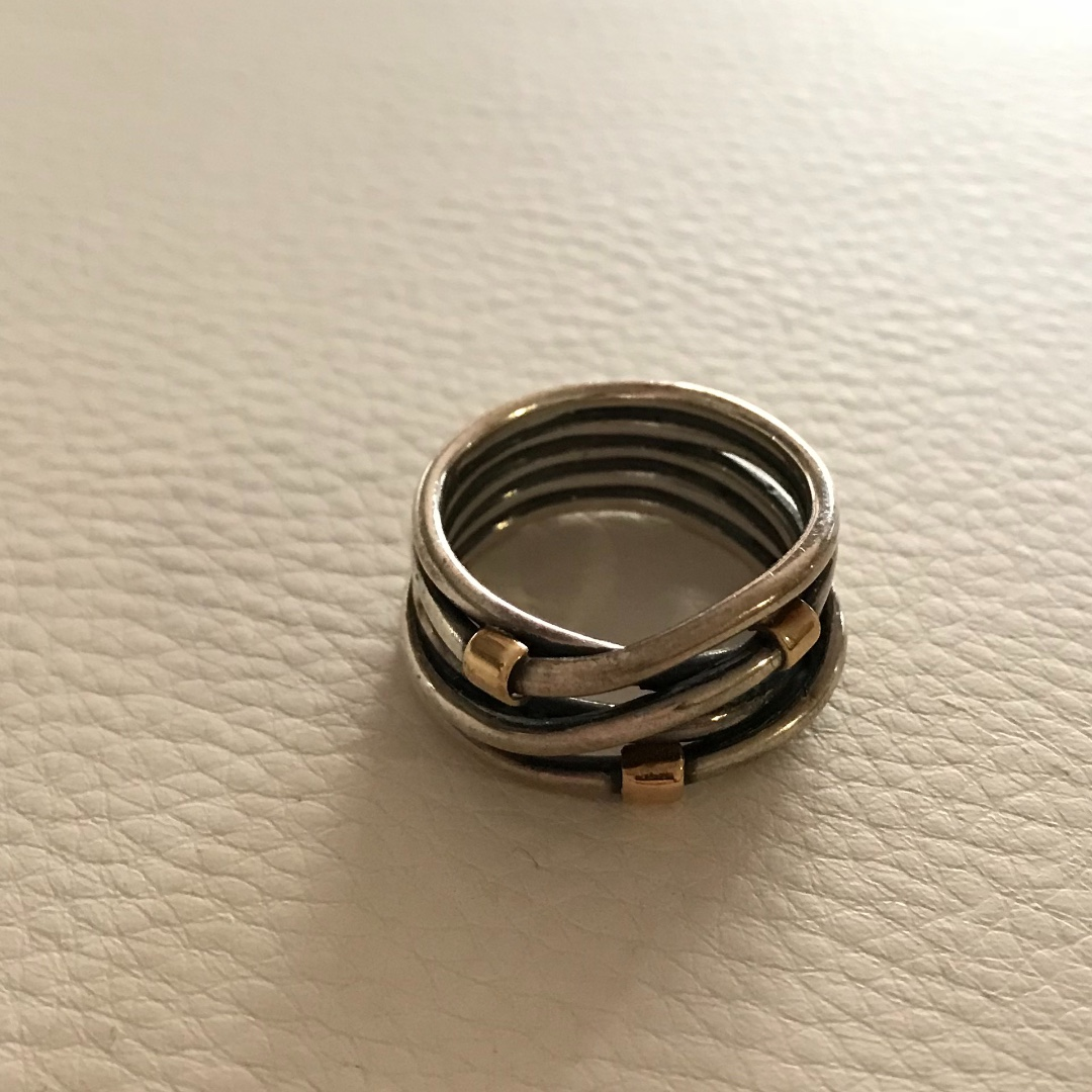 Pandora Silver and Gold Ring