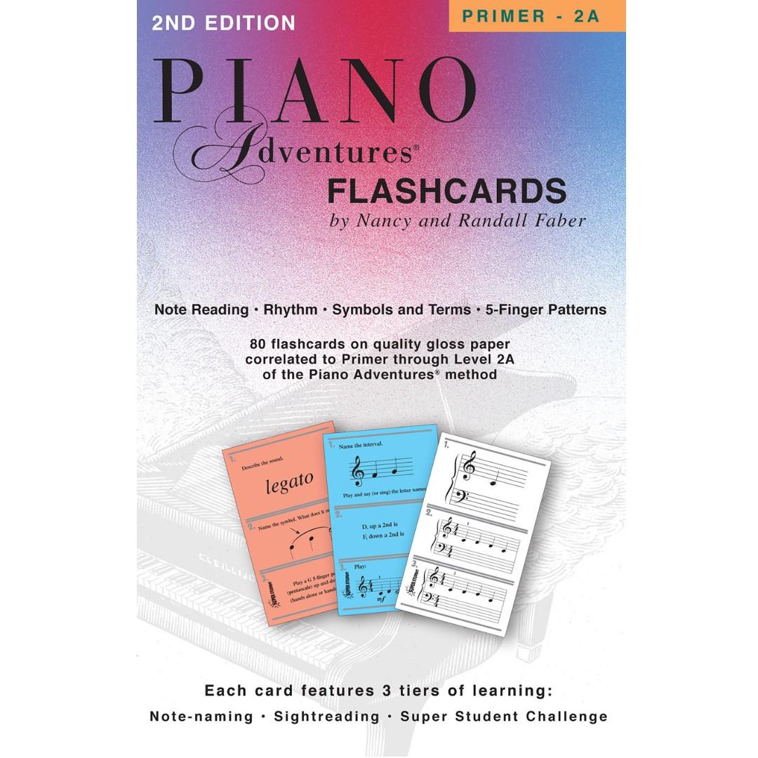 PIANO ADVENTURES FLASHCARDS (PRIMER - 2A)