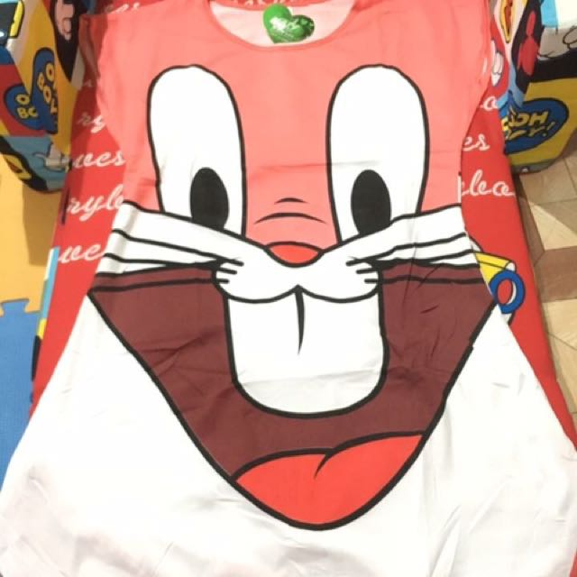 Pink Bugs Bunny duster for adult