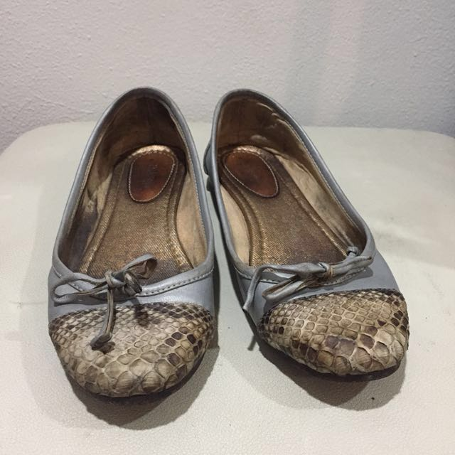Pla snake skin genuine leather shoes