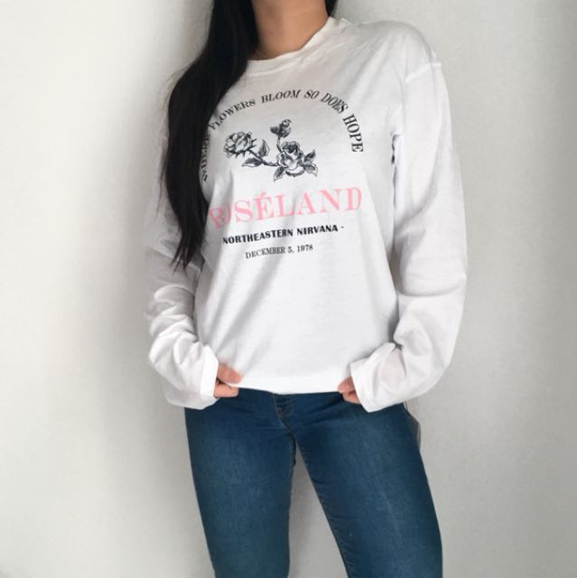 Pomelo Roseland Long Sleeve Graphic Tee