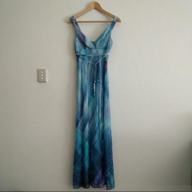 Review Australia Silk Maxi Dress