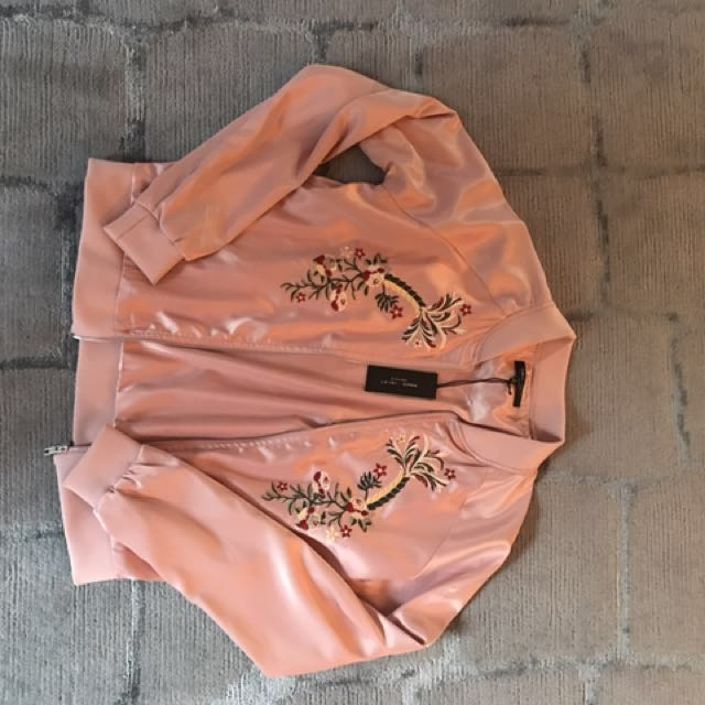 Romeo and Juliet Couture Pink Bomber Jacket (Size M)