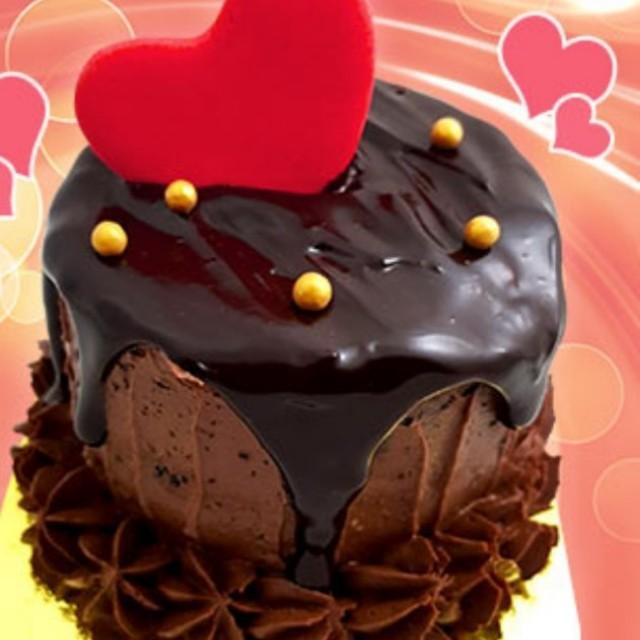 Round Mini Chocolate Cake (3 inches)