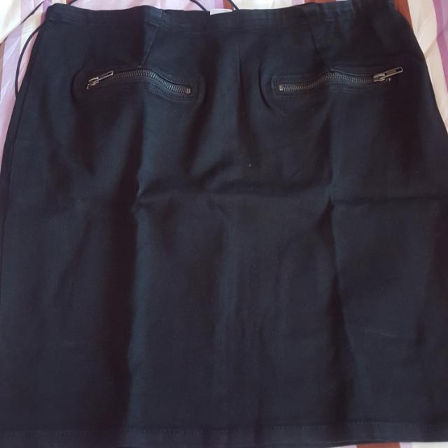 Saint Tropez Denim Black Skirt On Sale
