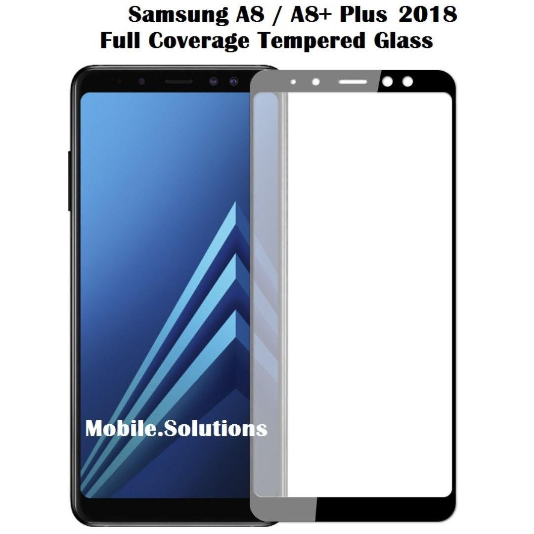 Samsung A8 ★ A8+ Plus 2018 ★ Full Coverage Tempered Glass