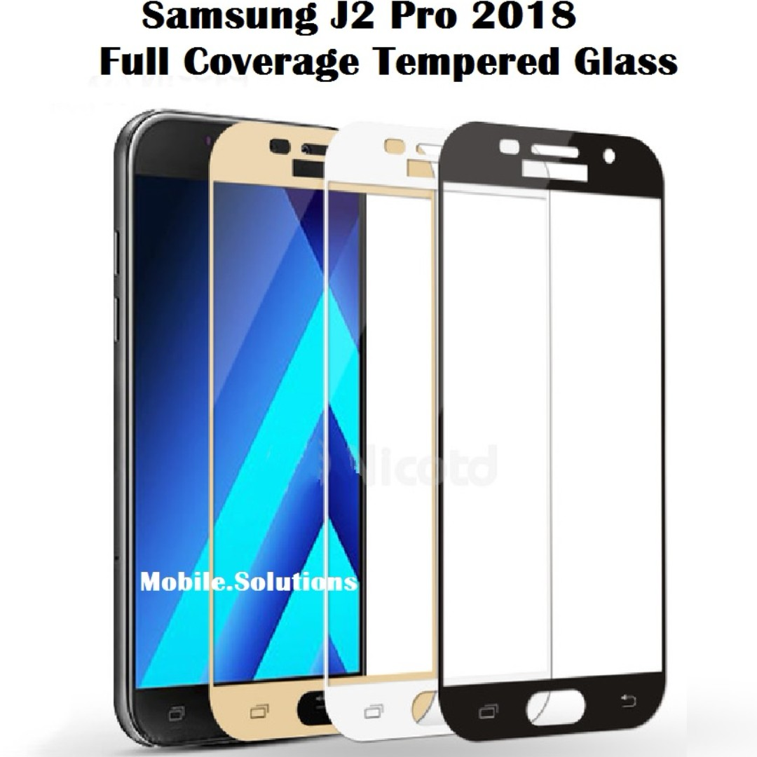 Samsung J2 Pro 2018 ★ Full Coverage Tempered Glass Screen