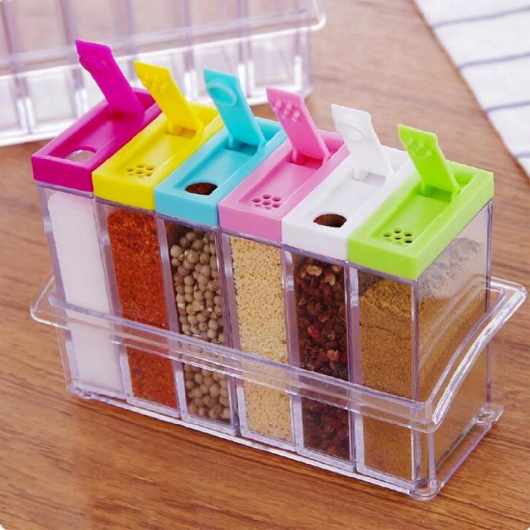 Box Rak Tempat Bumbu Dapur Serbaguna. Source. ' Seasoning Rack 6 .