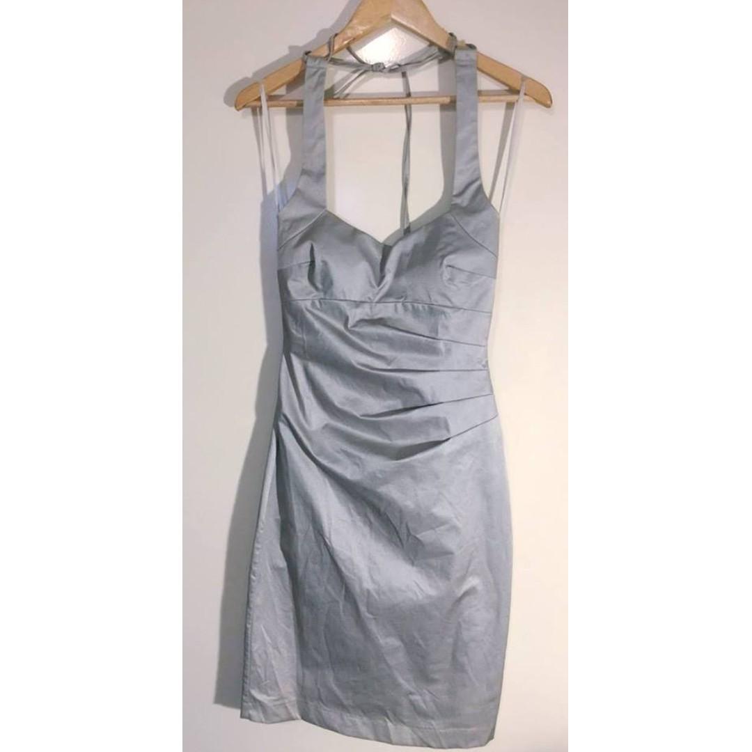 Sheike Size 10 Silver/grey dress