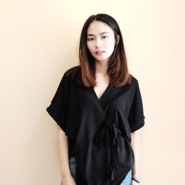 Shopataleen kimono black/gre