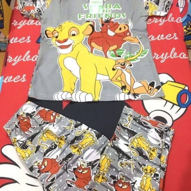 Simba lion king gray terno for kids