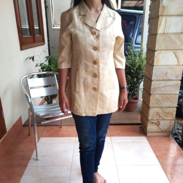 Simple Gold Blouse