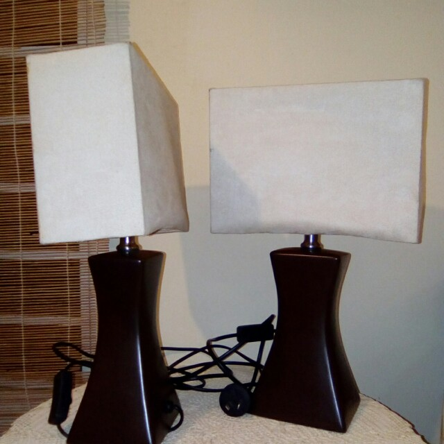 "Table Lamp x 2, (h: 16"")"