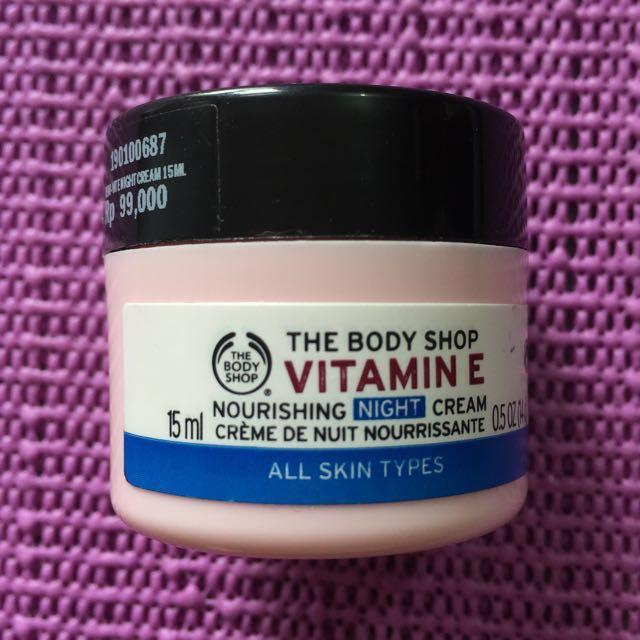 The body shop vitamin E night cream